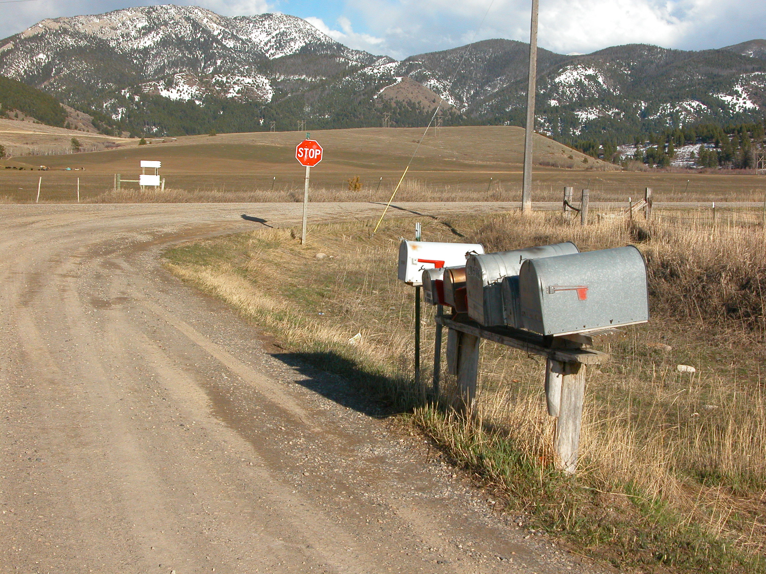 Mail Boxes Pass Creek School