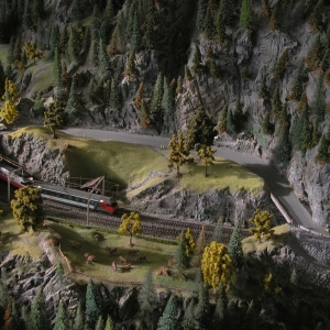 Model train at Luzern Transporation Museum