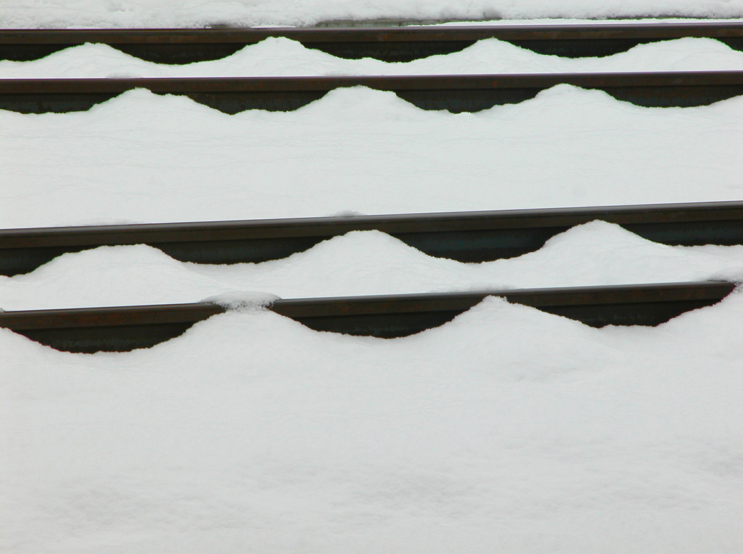 Rail tracks in snow