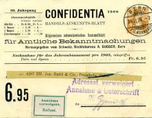 Refused Mail of Switzerland